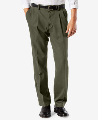 Dockers Men Easy Classic Pleated Fit Khaki Stretch Pants