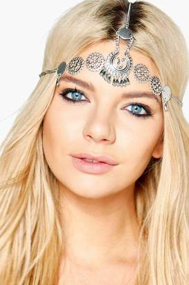boohoo Ruby Boutique Vintage Embellished Head Chain