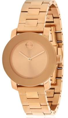 Movado Bold Rose Gold-Tone Ladies Watch 3600435
