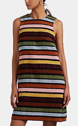 Lisa Perry Women's Striped Bouclé A-Line Shift Dress