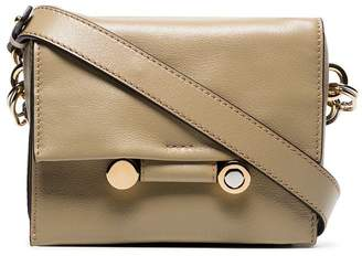 Marni nude medium chain strap leather shoulder bag