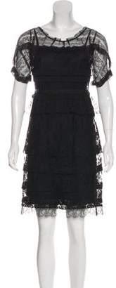 Nina Ricci Tiered Lace Mini Dress