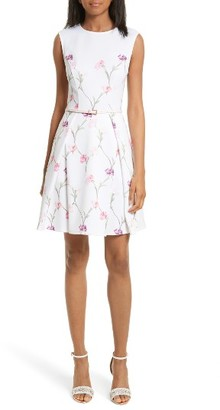 Women's Ted Baker London Ahlanna Sketchbook Skater Dress $279 thestylecure.com
