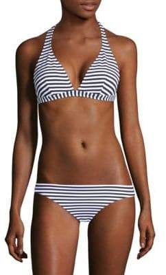Shoshanna Marine Stripe Halter Bikini Top