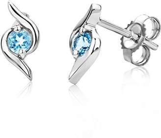 Miore Earrings Women studs Blue Topaz White Gold 9 Kt/375 npTs2jCM1j
