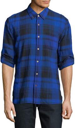 John Varvatos Mayfield Plaid Sport Shirt