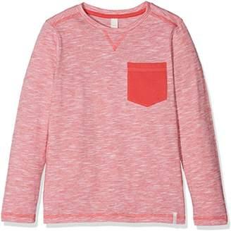 Esprit Boy's RL1026402 Longsleeve T-Shirt, (RED Orange 383)