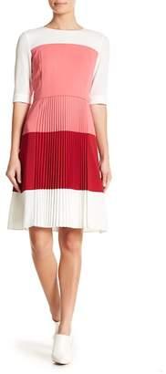 BOSS Disena Colorblock Pleat Dress