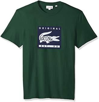 Lacoste Men's Short Sleeve Patch Graphic Jersey Regular Fit T-Shirt