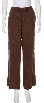 Calypso High-Rise Linen Pants