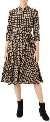Hobbs London Lainey Animal-Print Shirt Dress