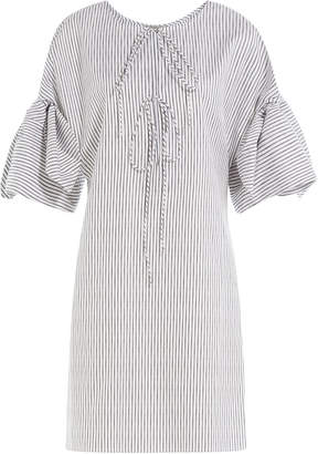 Three Graces Striped Cotton Nightgown