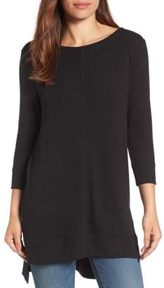 Caslon Three Quarter Sleeve Side Slit Tunic