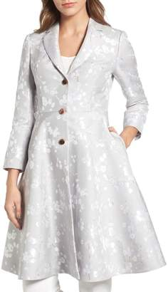 Ted Baker Jacquard Fit & Flare Coat