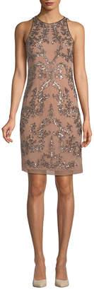 Adrianna Papell Sequin Sheath Dress