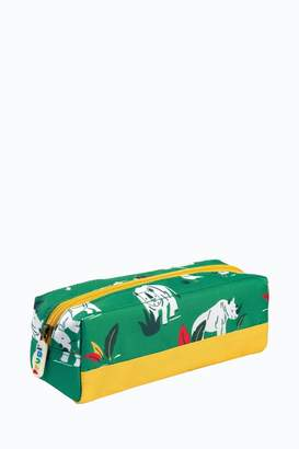 Frugi Boys Pencil Case In Rhino Print - Green