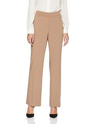Lark & Ro Women's Bootcut Trouser Pant: Curvy Fit