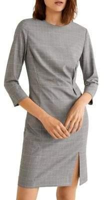 MANGO Check Sheath Dress