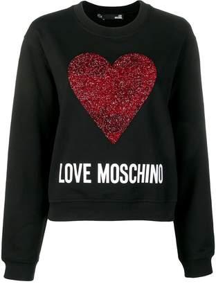 Love Moschino beaded Heart sweater