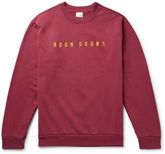 Noon Goons Logo-Embroidered Fleece-Back Cotton-Jersey Sweatshirt