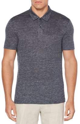 Perry Ellis Linen Slub Polo Shirt