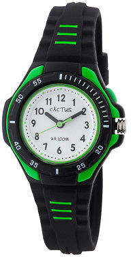 NEW Cactus Watches Bliss Black & Green Watch