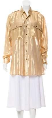 Ralph Lauren Silk Blend Button-Up