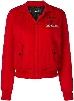 Love Moschino embroidered bomber jacket