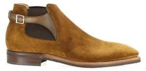 Corthay Bernay Suede Buckle Ankle Boots