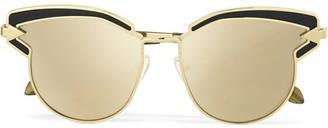 Karen Walker - Superstars Felipe Cat-eye Gold-tone Mirrored Sunglasses $280 thestylecure.com