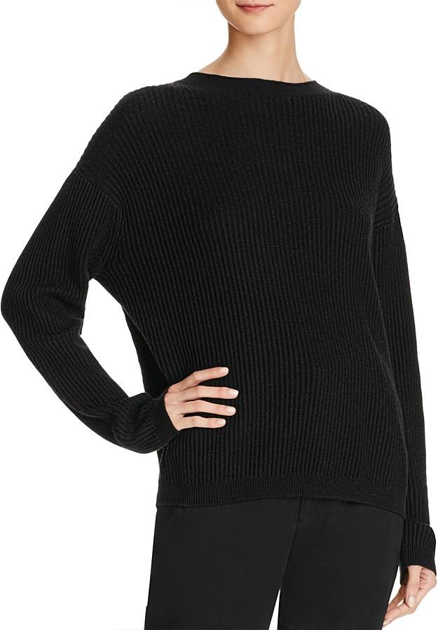Vince Split Back Ribbed Sweater