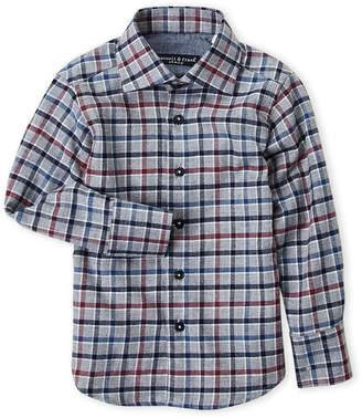 Manuell & Frank Toddler Boys) Grey Check Flannel Shirt