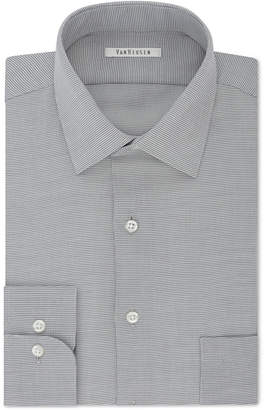 Van Heusen Men Classic-Fit Micro Houndstooth Dress Shirt