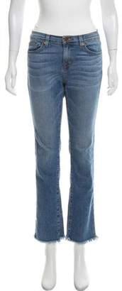 Christopher Kane x J Brand Mid-Rise Straight-Leg Jeans