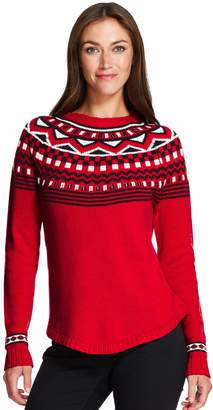 Izod Women's Fairisle Sweater