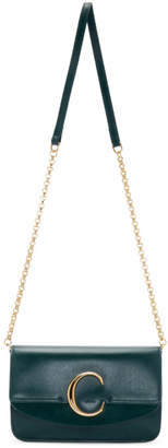 Chloé Navy C Chain Clutch Bag