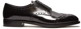 Prada Lace-up leather brogues