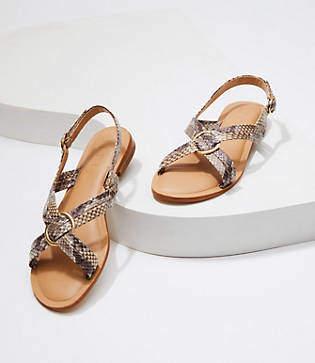 LOFT Criss Cross Slingback Sandals