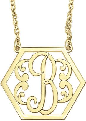 FINE JEWELRY Personalized Hexagon Initial Necklace