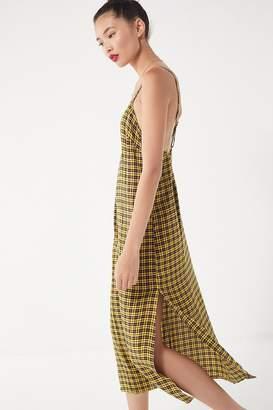 Urban Outfitters Rigby Plaid Maxi Slip Dress
