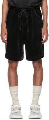 Gucci Black Velvet Shorts