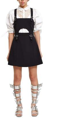 Opening Ceremony William Belted Buckle Fit-And-Flare Dress