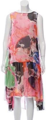 Rachel Comey Abstract Print Midi Dress