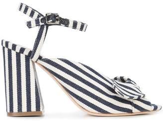 Loeffler Randall high heeled striped sandals
