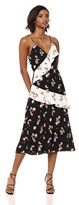 Keepsake The Label Women's Evolve Sleeveless V Neck Midi Dress with Ruffle Detail