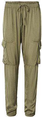 Ralph Lauren Denim & Supply Drapey Satin Cargo Pant $165 thestylecure.com