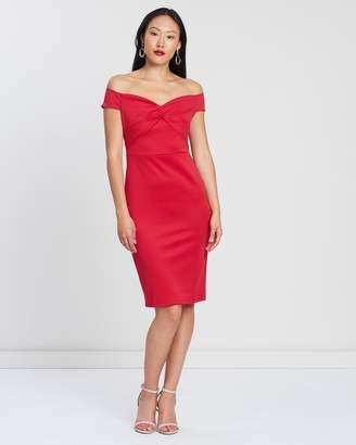 Dorothy Perkins Bardot Twist Scuba Pencil Dress