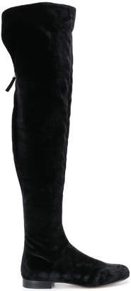 Alberta Ferretti thigh-high boots