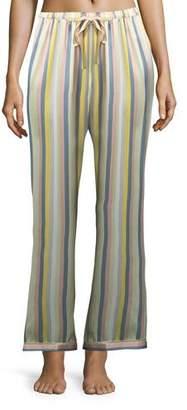 Morgan Lane Chantal Sorbet-Striped Pajama Pants
