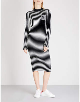 Mo&Co. Striped knitted jumper dress